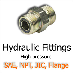 hydraulic fittings, high pressure SAE, JIC, NPT fittings